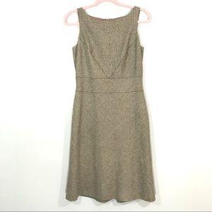 Ann Taylor | Sleeveless Wool Blend Midi Dress